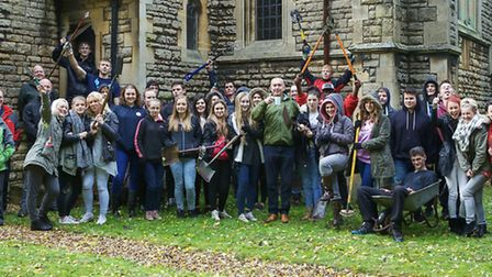 Clean up at St John's Church March