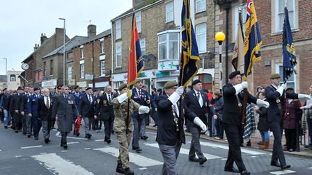 Whittlesey Remembrance Parade 2015. Picture: Steve Williams.