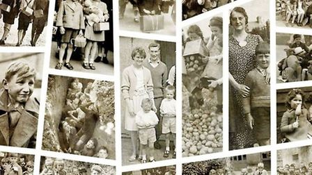 Homefront film project - an archive of old photographs put together by apprentice Harry