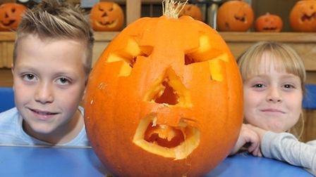Halloween crafts at Littleport Leisure Centre. Ely. Picture: Steve Williams.