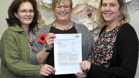 Manea Community Primary school, Good Ofsted. Left: Sarah Eastol, Chair of Governors. Nicky Froggatt