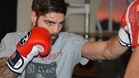 Boxer Liam Goodjohn of Wentworth at St Ives Boxing Academy,
