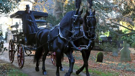 Gothic wedding of Mark and Charis Randall at graveyard at St john's church in March, Picture: Steve
