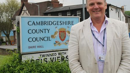 FLASHBACK: Nick Clarke during his time as Cambridgeshire County Council leader