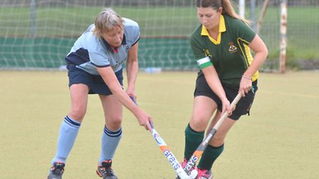 Ely Ladies 2nds Hockey v St Neots Ladies 3rds, (blue)