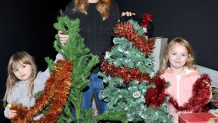 Hayley Dolbear is appea.ing for trees to hand out to those who cannot afford one: Megan, Hayley and