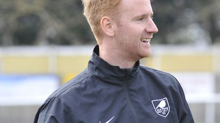 Ely City manager Brady Stone was delighted with his side's 6-1 win. Picture: Helen Drake.