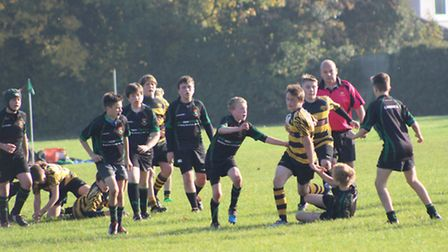 Ely Tigers under 13s against Newmarket under 13s