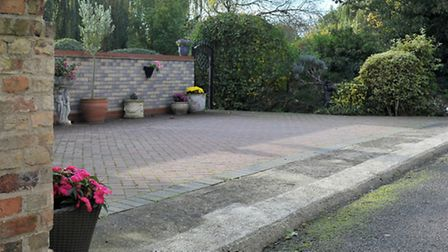 Planning appeal regarding wall opposite the house at 62a West end, March. Picture: Steve Williams.