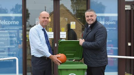 Dave White, waste services team leader at East Cambridgeshire District Council and Joe Rudd of Ellgi