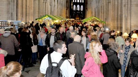 Ely Cathedral Christmas gift and food fair . Picture: Steve Williams.
