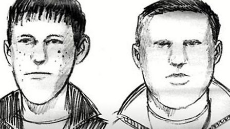 Sketch made 21 years ago following eye witness account of seeing two youths emerging from copse wher