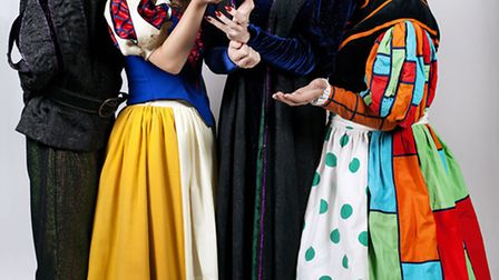 The cast of Snow White and the Seven Dwarfs