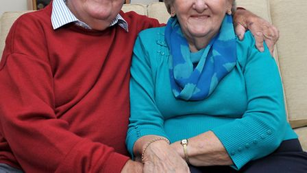 Neil and Margeret Mortlock. Celebrating their 60th wedding anniversary. Picture: Steve Williams.