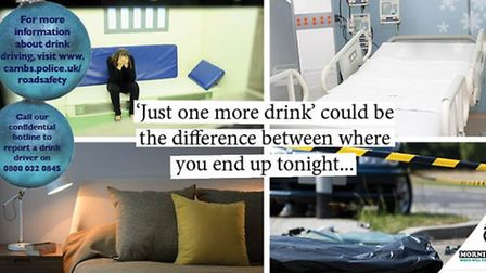 Where will you end up tonight? Cambridgeshire Police drink drive campaign