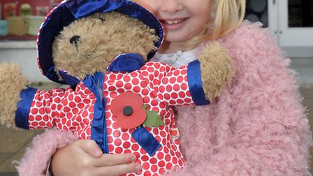 Remembrance Parade 2015. March, Lional Warden school Doddington, Honey Cotier with Weatherby the be