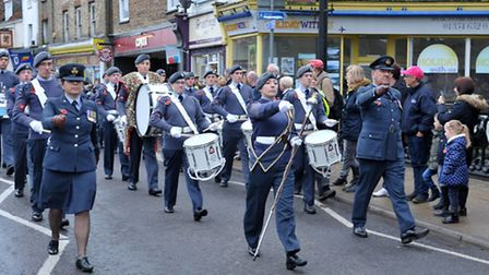 Remembrance Parade 2015. March, Picture: Steve Williams.
