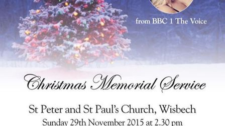 Enjoy a Christmas memorial service in Wisbech before going to the lights switch on