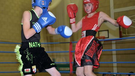 Chatteris ABC home show. Red. Ryan Williams (Cheshunt) Blue. Nathan Smith ( Haddenham). Picture: St