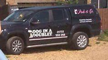 The truck which has been stolen from the Dog in a Doublet in Whittlesey