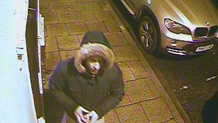 Police are looking to speak to this man in connection with the discovery of a skimming device and ca