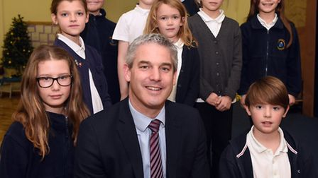 NE Cambs MP Steve Barclay at Kingsfield Primary