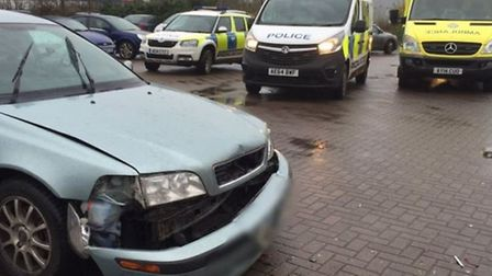 Four vehicle collision in B&M Bargains car park in March