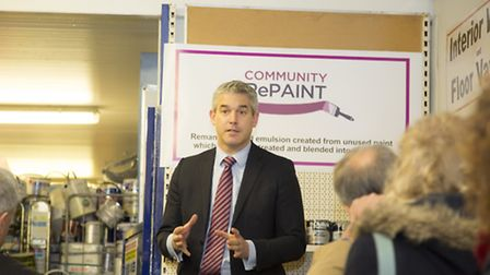 MP Stephen Barclay launched the UK's first paint remanufacturing hub in March on Friday.