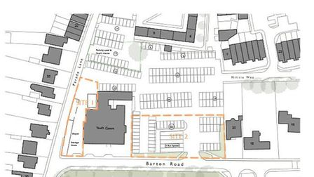 Site of proposed new homes for Barton Road car park, Ely