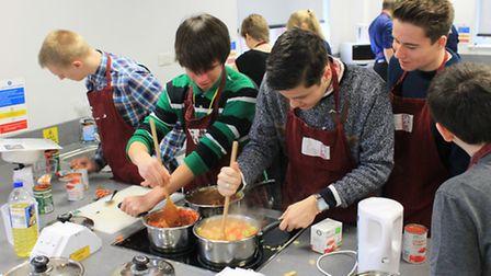 Sixth form students at Cromwell Community College raise money for Crisis at Cambridge by opening sou
