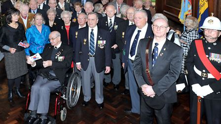 British Korean War Vets and British Legion lunch and march, Fordam Abbey. Picture: Steve Williams.