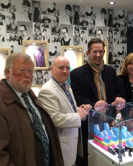 Left to right; Malcolm Lyons, Keith Hewitt, Jonathan Djanogly and Kristie Hewitt at Deavisons Jewell