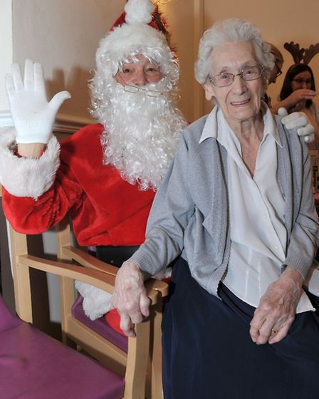 Heron House, March. Xmas Fayre. 96 year old Phylis Oakley, Picture: Steve Williams.