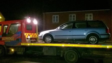 An uninsured car is seized by East Cambs Police on November 20.
