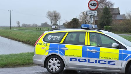 Road traffic collision at Gravel Bank. St Johns Fen End near Wisbech, Picture: Steve Williams.