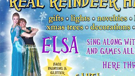 Sing along with Elsa, Santa and real reindeer
