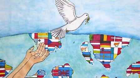 Peace poster by Neale Wade Academy student Holly Fevyer