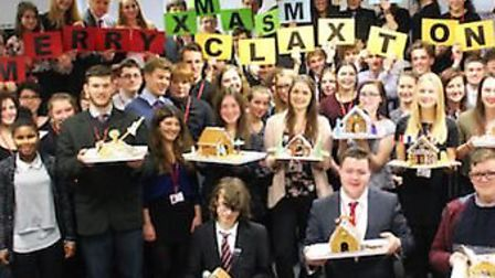 Thomas Clarkson sixth formers with their gingerbread houses