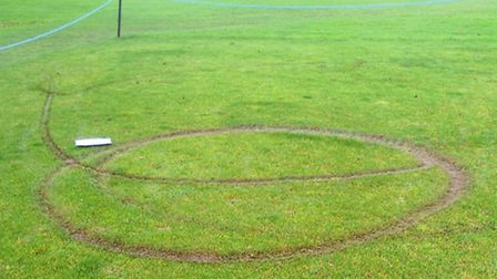 Damage to the outfield and pitches at March Town Cricket Club.