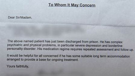 One of many doctor's letters issued to Shaun Taylor