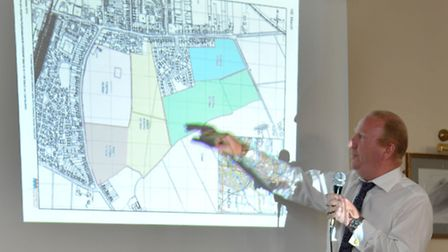 The one that got away! Cllr Steve Count unveils proposals for Estover that were later dumped. A seco