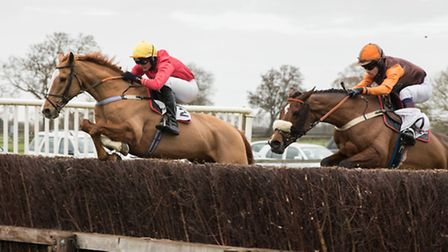 Consigliere racing at Cottenham Point-to-Point on Saturday. Picture: Graham Bishop