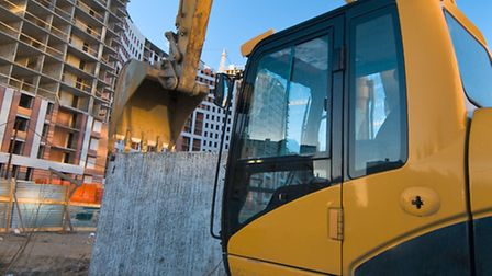 An excavator, much like the one in this picture, was stolen from a field in Stuntney on Wednesday ni