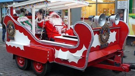 Ely Rotary Clubs' Father Christmas is to set off in his sleigh for his annual tour of the city.
