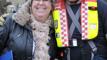Whittlesey Mayor's charity Duck race. Left: Clerk to Whittlesey town council Sue Evans and Firefight