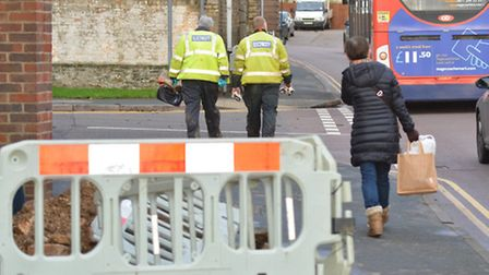 Broad Street, Ely, left with no electricty,