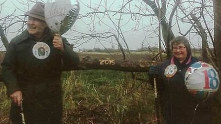Colin Bedford celebrates the 50th anniversary of walking eight miles on Christmas morning