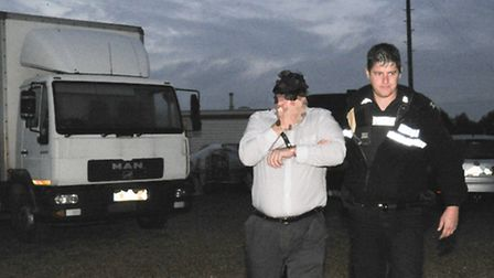 Police shut down an illegal travellers site in Cottenham in 2013.