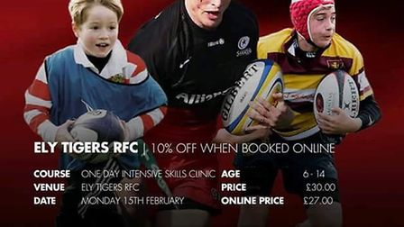 Ely Tigers are to host an intensive skills clinic by Premiership champions Saracens.