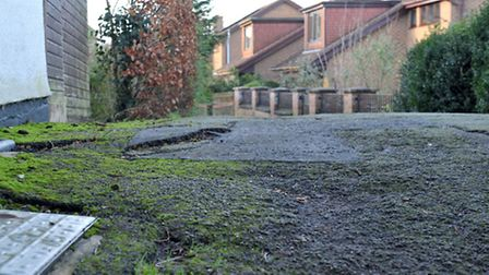 Footpaths sinking in West End, March. Picture: Steve Williams.